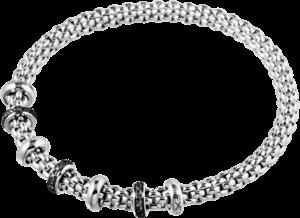 Armband Fope Flex'it Solo aus 750 Weißgold mit mehreren Brillanten (0,3 Karat) Größe L