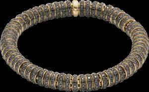 Armband Fope Flex'it Solo aus 750 Gelbgold mit mehreren Brillanten (6,67 Karat) Größe L