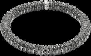 Armband Fope Flex'it Solo aus 750 Weißgold mit mehreren Brillanten (6,67 Karat) Größe L