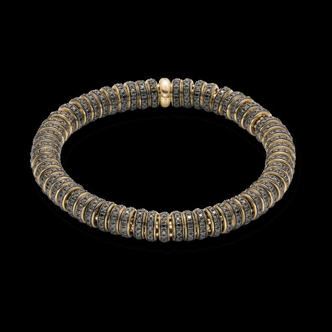 Armband Fope Flex'it Solo aus 750 Gelbgold mit mehreren Brillanten (6,35 Karat) Größe M