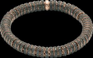 Armband Fope Flex'it Solo aus 750 Roségold mit mehreren Brillanten (6,35 Karat) Größe M