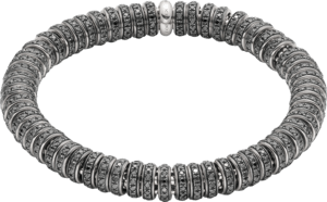 Armband Fope Flex'it Solo aus 750 Weißgold mit mehreren Brillanten (6,03 Karat) Größe S