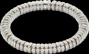 Armband Fope Flex'it Solo aus 750 Gelbgold und 750 Weißgold mit mehreren Brillanten (5,8 Karat) Größe M