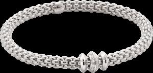 Armband Fope Flex'it Solo aus 750 Weißgold mit mehreren Brillanten (0,17 Karat) Größe L