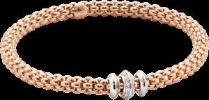 Armband Fope Flex'it Solo aus 750 Roségold mit mehreren Brillanten (0,17 Karat) Größe S