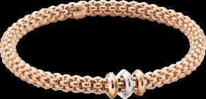 Armband Fope Flex'it Solo aus 750 Roségold, 750 Gelbgold und 750 Weißgold Größe L