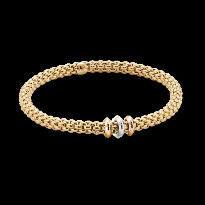 Armband Fope Flex'it Solo aus 750 Gelbgold, 750 Roségold und 750 Weißgold Größe M