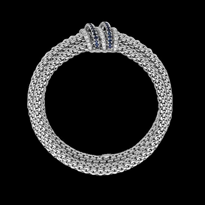 Armband Fope Solo Flex 'it Mialuce aus 750 Weißgold mit mehreren Brillanten (0,66 Karat) und mehreren Saphiren Größe S bei Brogle