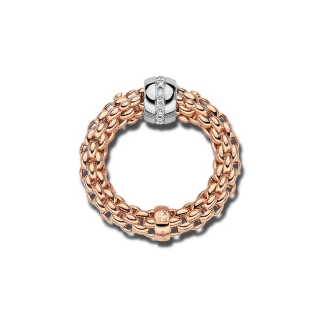 Ring Fope Solo Flex'it aus 750 Roségold und 750 Weißgold mit mehreren Brillanten (0,1 Karat) Größe S (49-53) bei Brogle