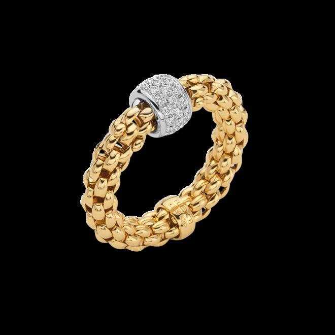 Ring Fope Solo Flex'it aus 750 Gelbgold mit mehreren Brillanten (0,29 Karat) Größe S (49-53)