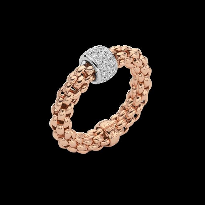 Ring Fope Solo Flex'it aus 750 Roségold mit mehreren Brillanten (0,29 Karat) Größe S (49-53)