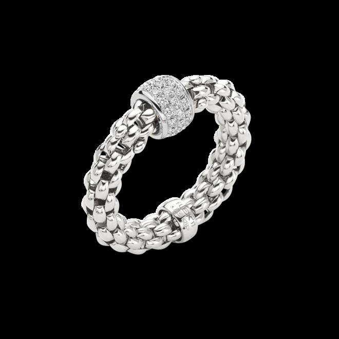 Ring Fope Solo Flex'it aus 750 Weißgold mit mehreren Brillanten (0,29 Karat) Größe S (49-53) bei Brogle