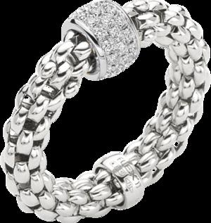 Ring Fope Solo Flex'it aus 750 Weißgold mit mehreren Brillanten (0,29 Karat) Größe S (49-53)