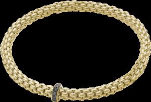 Armband Fope Flex'it Solo aus 750 Gelbgold mit mehreren Brillanten (0,11 Karat) Größe XS
