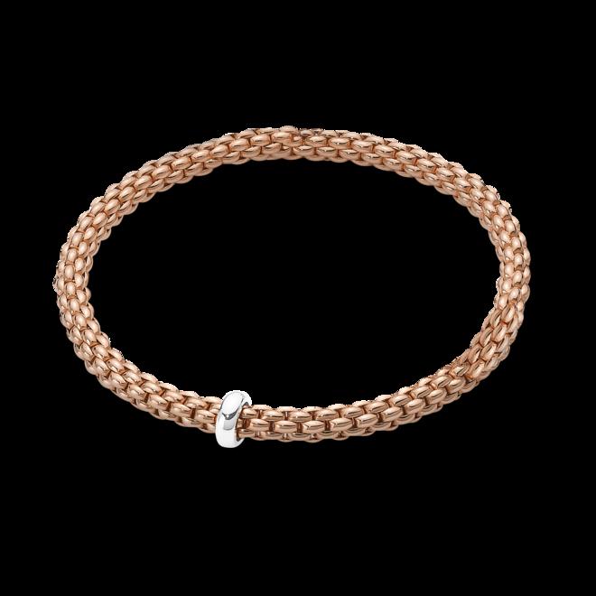Armband Fope Flex'it Solo aus 750 Weißgold und 750 Roségold Größe L