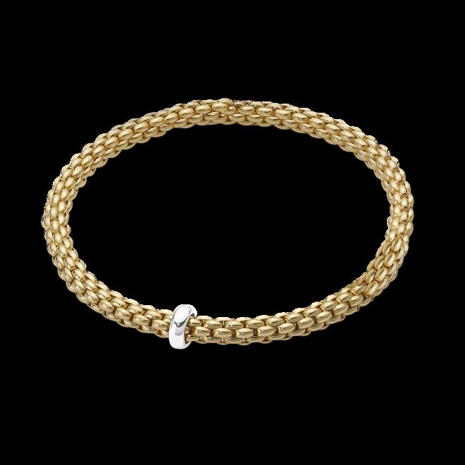Armband Fope Flex'it Solo aus 750 Gelbgold und 750 Weißgold Größe XS