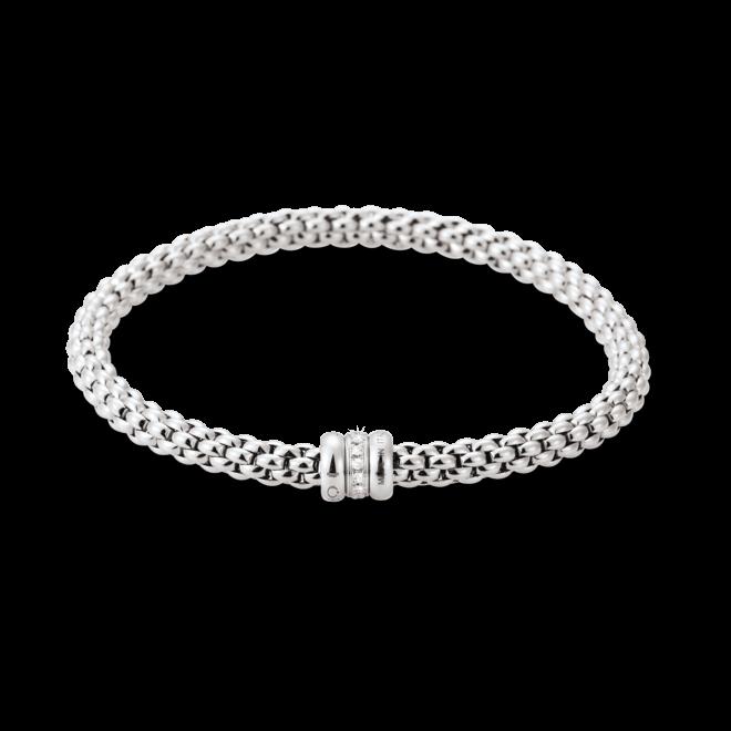 Armband Fope Flex'it Solo aus 750 Weißgold mit mehreren Diamanten (0,1 Karat) Größe L bei Brogle