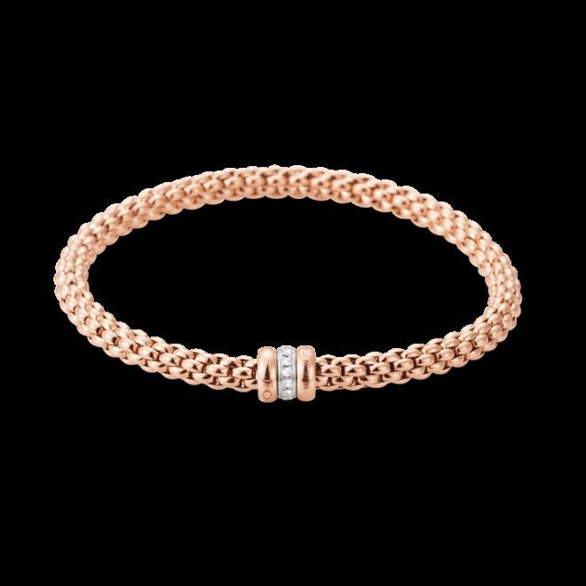 Armband Fope Flex'it Solo aus 750 Roségold und 750 Weißgold mit mehreren Brillanten (0,1 Karat) Größe M bei Brogle