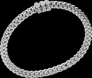 Armband Fope Flex'it Solo aus 750 Weißgold mit mehreren Diamanten (0,3 Karat) Größe S