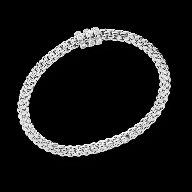 Armband Fope Flex'it Solo aus 750 Weißgold mit mehreren Diamanten (0,3 Karat) Größe XS