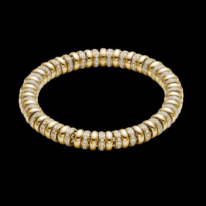 Armband Fope Flex'it Solo aus 750 Gelbgold mit mehreren Brillanten (2,99 Karat) Größe M