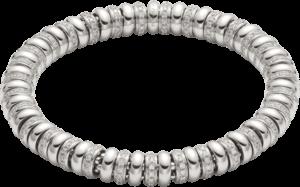 Armband Fope Flex'it Solo aus 750 Weißgold mit mehreren Brillanten (2,8 Karat) Größe S