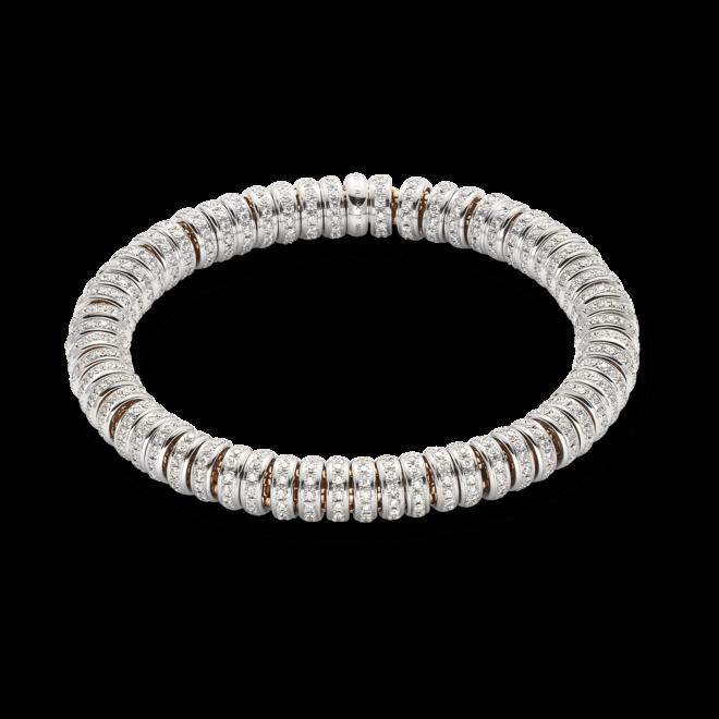 Armband Fope Flex'it Solo aus 750 Roségold und 750 Weißgold mit mehreren Brillanten (5,8 Karat) Größe M
