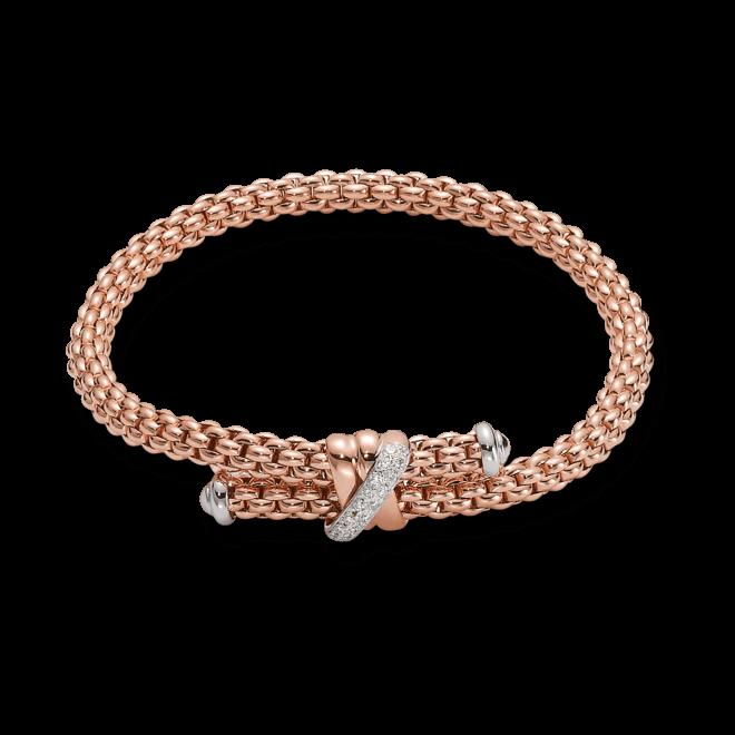 Armband Fope Flex'it Solo aus 750 Roségold mit mehreren Brillanten (0,2 Karat) Größe M