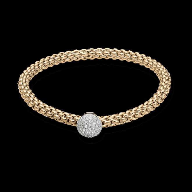 Armband Fope Flex'it Solo aus 750 Gelbgold mit mehreren Brillanten (0,41 Karat) Größe M