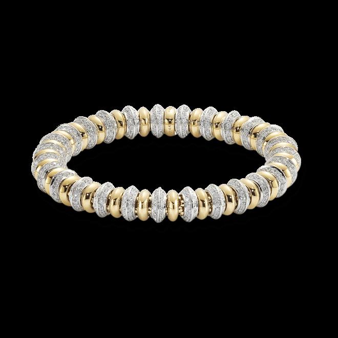 Armband Fope Flex'it Solo aus 750 Gelbgold und 750 Weißgold mit mehreren Brillanten (4,47 Karat) Größe M bei Brogle