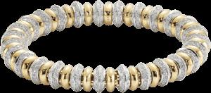 Armband Fope Flex'it Solo aus 750 Gelbgold und 750 Weißgold mit mehreren Brillanten (4,47 Karat) Größe M