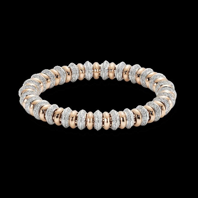 Armband Fope Flex'it Solo aus 750 Roségold und 750 Weißgold mit mehreren Brillanten (4,47 Karat) Größe M