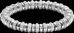 Armband Fope Flex'it Solo aus 750 Weißgold mit mehreren Brillanten (4,47 Karat) Größe M
