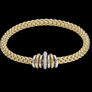 Fope Armband Flex'it Solo Gelbgold 619B-BBRL_GG