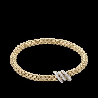Fope Armband Flex'it Solo Gelbgold 652B-PAVEM_GG