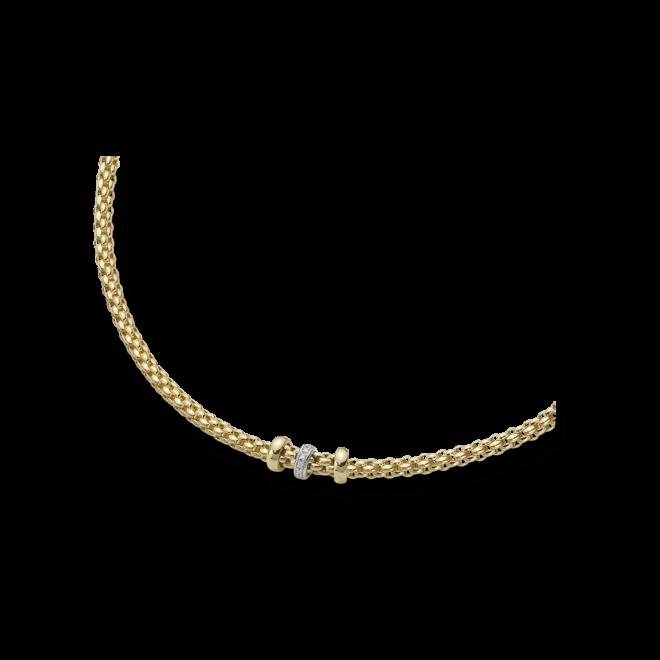 Halskette Fope Flex'it Solo Gelbgold aus 750 Gelbgold mit mehreren Brillanten (0,1 Karat)