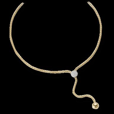 Fope Halskette mit Anhänger Flex'it Solo Gelbgold 650-PAVE_GG