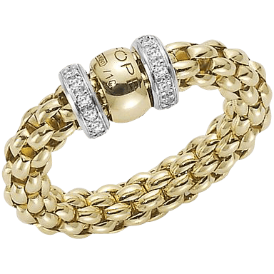 Fope Ring Flex'it Solo Gelbgold AN627-BBRS_GG