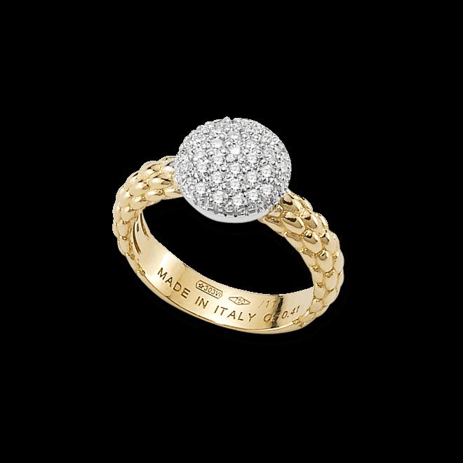 Ring Fope Flex'it Solo Gelbgold aus 750 Gelbgold mit mehreren Diamanten (0,41 Karat)