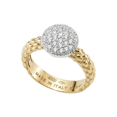 Fope Ring Flex'it Solo Gelbgold AN648-PAVE_GG