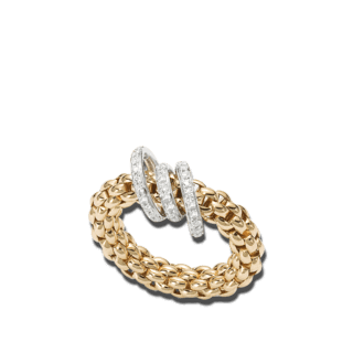 Fope Ring Flex'it Solo Gelbgold AN652-PAVEM_GG