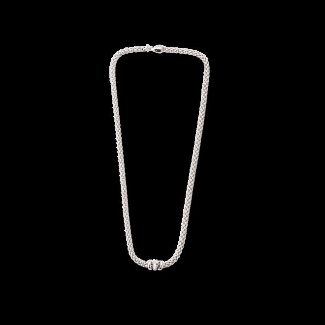 Halskette Fope Flex'it Solo aus 750 Weißgold mit mehreren Brillanten (0,1 Karat)