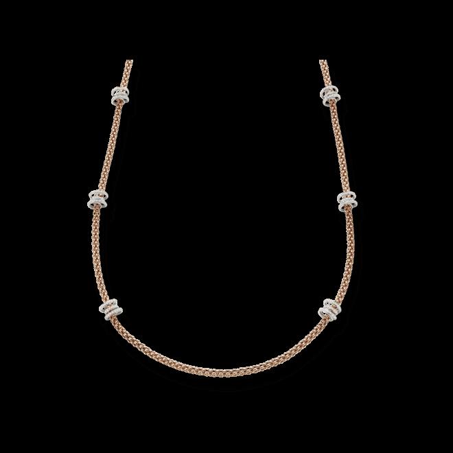 Halskette Fope Flex'it Solo aus 750 Roségold und 750 Weißgold mit mehreren Brillanten (2,24 Karat)