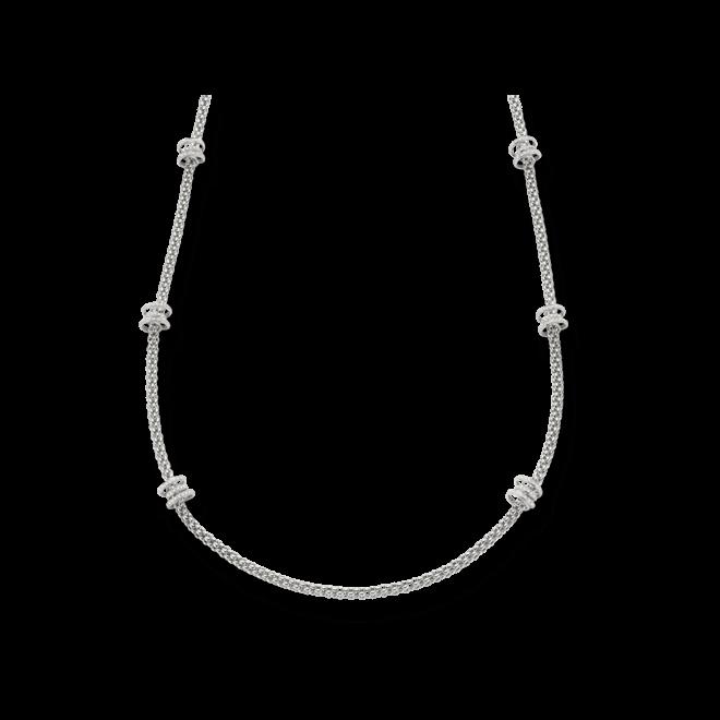 Halskette Fope Flex'it Solo aus 750 Weißgold mit mehreren Brillanten (2,24 Karat)