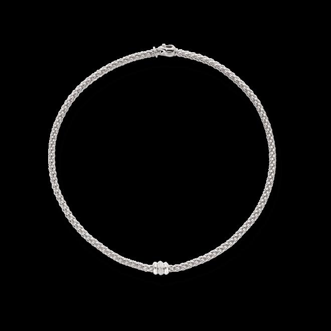 Halskette Fope Flex'it Solo aus 750 Weißgold mit mehreren Brillanten (0,17 Karat)