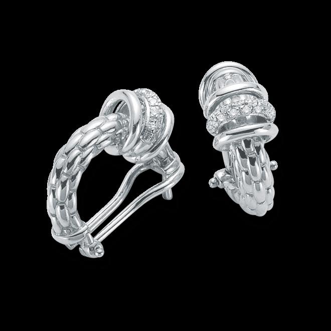 Ohrring Fope Flex'it Solo aus 750 Weißgold mit mehreren Diamanten (2 x 0,11 Karat)