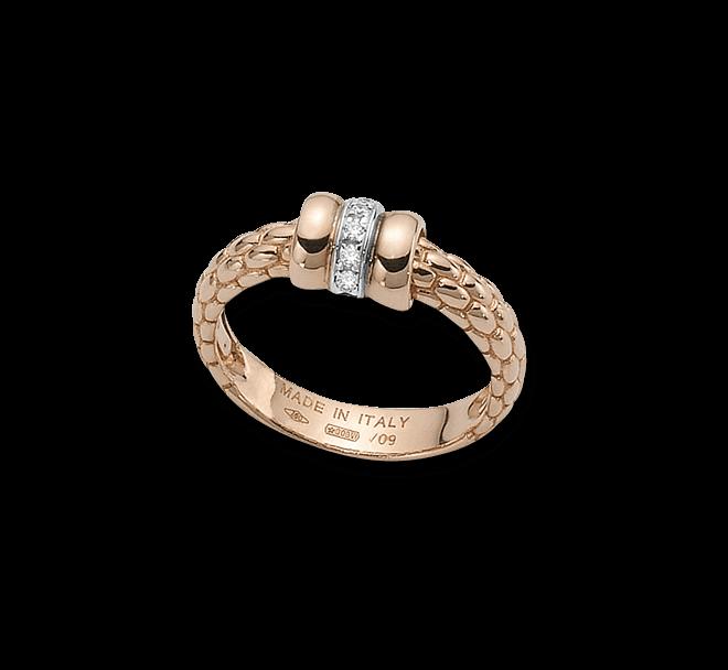 Ring Fope Flex'it Solo aus 750 Roségold und 750 Weißgold mit mehreren Brillanten (0,05 Karat) bei Brogle