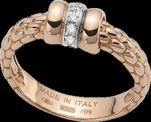 Ring Fope Flex'it Solo aus 750 Roségold und 750 Weißgold mit mehreren Brillanten (0,05 Karat)