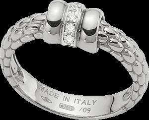 Ring Fope Flex'it Solo aus 750 Weißgold mit mehreren Brillanten (0,05 Karat)