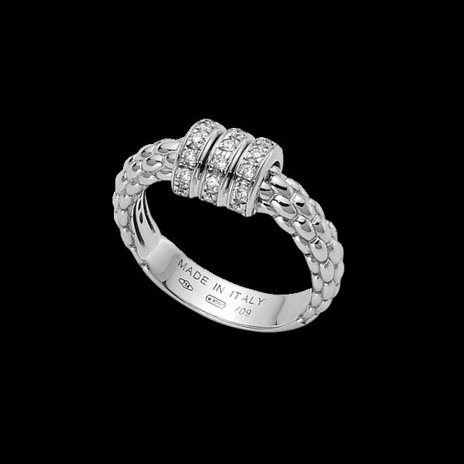 Ring Fope Flex'it Solo aus 750 Weißgold mit mehreren Diamanten (0,15 Karat)